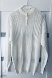 Biały Sweter L 40