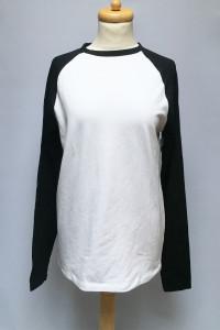 Bluzka Biała Czarne Rękawy Asos NOWA M 38 Koszulka...