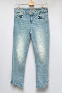Spodnie Zara Basic M 38 Jeansy Dzisnowe Postrzępione Nogawki...