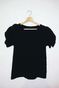 NOWA czarna bluzka koszulka House z falbaną...