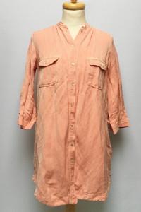 Koszula Zara Basic M 38 Sukienka Len Lniana Czerwona...