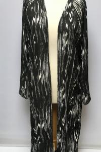 Narzutka Kimono Czarne Wzory Marmurkowe Gina Tricot XL 42...