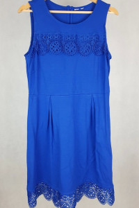 Piękna chabrowa sukienka XL