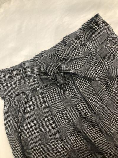 Spodnie Eleganckie spodnie VERO MODA wiązane w pasie Check Pant