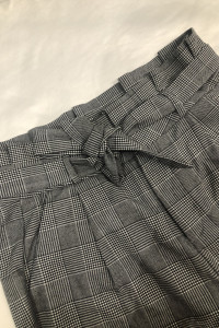 Eleganckie spodnie VERO MODA wiązane w pasie Check Pant