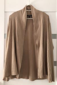 Sweter Narzutka Brązowy 44 XXL