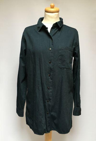 Koszule Koszula Granatowa Cubus M 38 Bawełna Elegancka