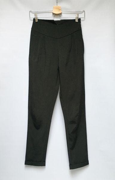 Spodnie Spodnie Wyższy Stan Czarne Eleganckie Missguided XXS 32