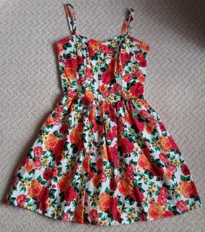 Suknie i sukienki Cudna sukieneczka w kwiaty rozm 36