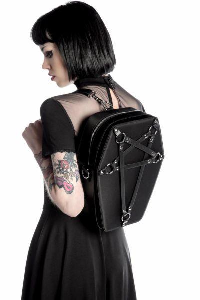 Plecaki Plecak Black Coffin Backbag Killstar