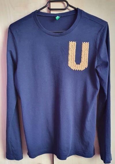 Bluzki Granatowa bluzka chłopięca Benetton 150
