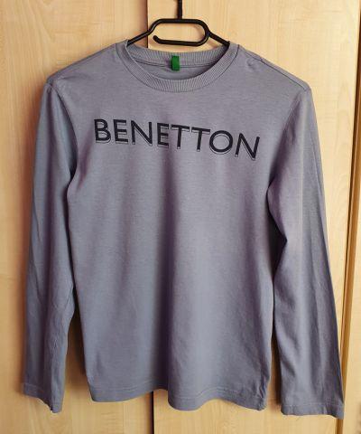 Bluzki Szara bluzka chłopięca Benetton 150