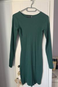 Sukienka w kolorze zielonej butelki
