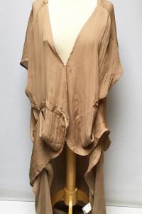 Narzutka Kimono Brązowe Bik Bok Long XS 34 Angelica Blick...