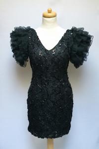 Sukienka Czarna Tiul Cekiny H&M Ołówkowa S S 36 Sexy...