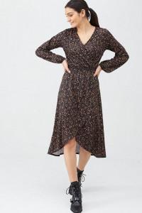 Sukienka z wzorem kwiatowym z bufiastymi rękawami M...