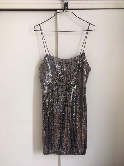 Suknie i sukienki sukienka z cekinami Zara L nowa