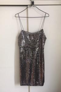 sukienka z cekinami Zara L nowa