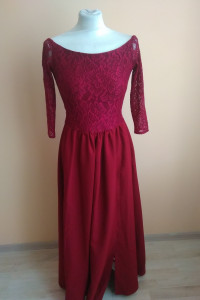 Elegancka długa sukienka S