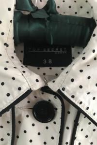 Płaszcz top secret beżowy w kropki M