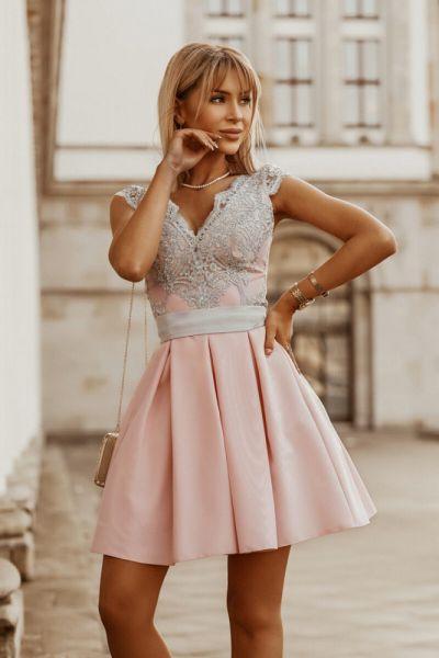 Suknie i sukienki sukienka 2139 rózowa 34 36 38 40 42 44 46 48 kolory