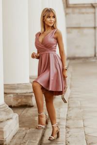 Brokatowa sukienka 36 38 40 42 44 46 kolory 2215...