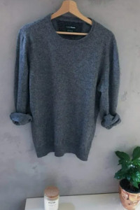 Szary sweter dobry skład M 38 S 36 Niemiecka marka