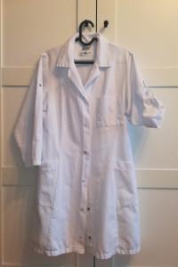 Biały fartuch laboratoryjny kitel S