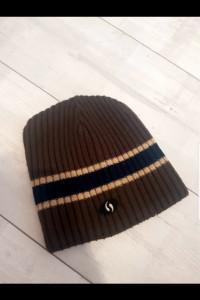 Brązowa męska czapka