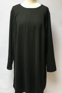 Sukienka Czarna XL 42 Lindex Oversize Elegancka Długi Rękaw...