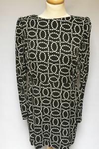 Sukienka Wzory Czarna H&M XXL 44 Elegancka...