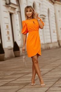 Sukienka 2221 kolory mini bufki łezka 36 38 40 42...