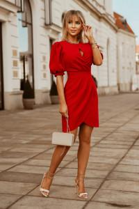 sukienka mini bufki dekolt łezka kolory 36 38 40 42...
