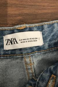 Zara Jeans Wide Leg Full Lenght z Rozdarciami...