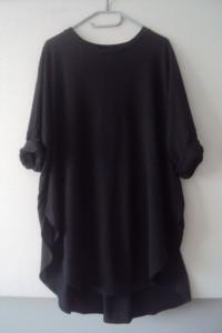 czarna asymetryczna tunika