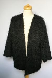 Sweter H&M Narzutka Czarna Włochata M 38 Misiek