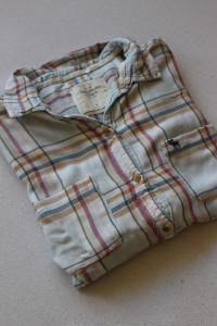 bawełniana koszula w kratkę m
