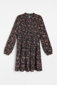 Sukienka w beżowe kwiatki