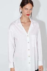 NOWA ZARA oversize śnieżno biała koszula L