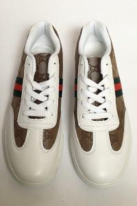 Snakersy Białe Gucci NOWE 41 265 cm Logowane Tenisówki Trampki...