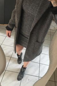 Mango zestaw Oversize płaszcz sukienka hm...