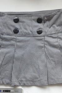 Spódnica w kratkę mini xs s czarno biała pepitka girls by kappa...