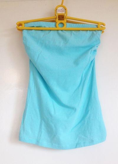 Top Top tuba terranova xs s elastyczny gumka dopasowany turkusowy niebieski