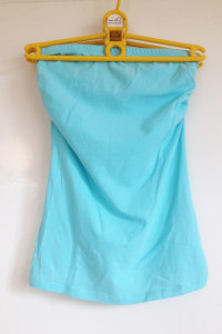 Top tuba terranova xs s elastyczny gumka dopasowany turkusowy niebieski