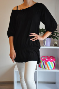 Czarna bluzka tunika...