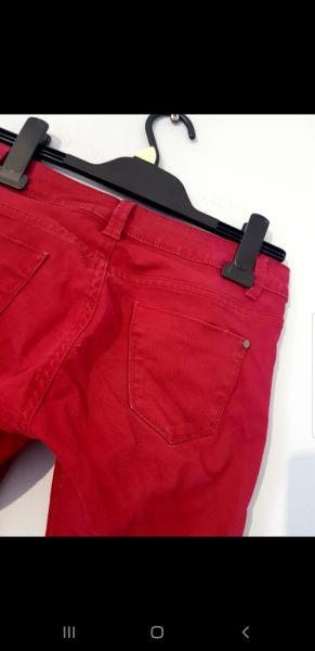 Spodnie Bordowe spodnie
