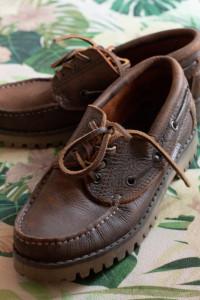 Skórzane mokasyny buty żeglarskie