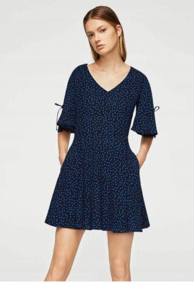 Suknie i sukienki MANGO MINI SUKIENKA GROSZKI PRINT XS