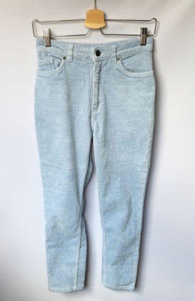 Spodnie Spodnie Niebieskie Sztruksowe Monki S 36 Sztruks