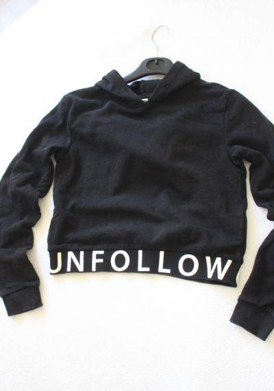 Bluzy czarna bluza bawełniana xs